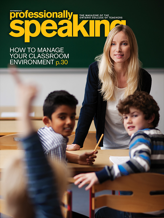 Cover of the latest issue of Professionally Speaking